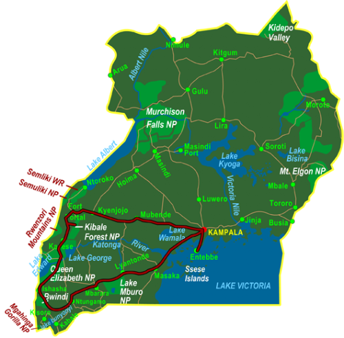 Map Photo Tour Uganda