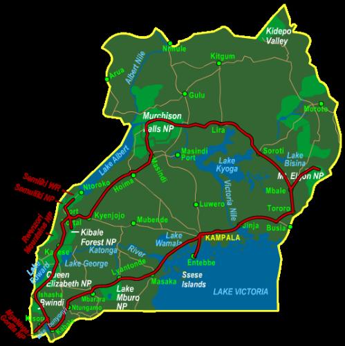 Map Best of Uganda (20 days)