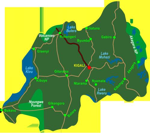 Map Gorillas in the Mist (3 days)