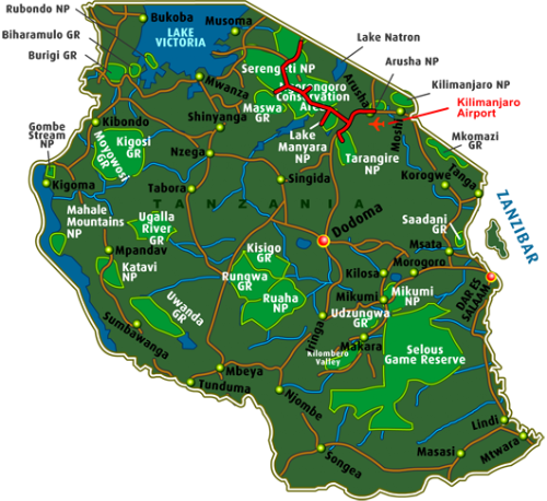 Map Highlights of the Northern Circuit (8 days)
