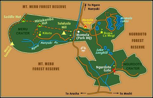 Map Mount Meru Trekking (4 days)